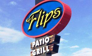 Flips Houston Pole Sign